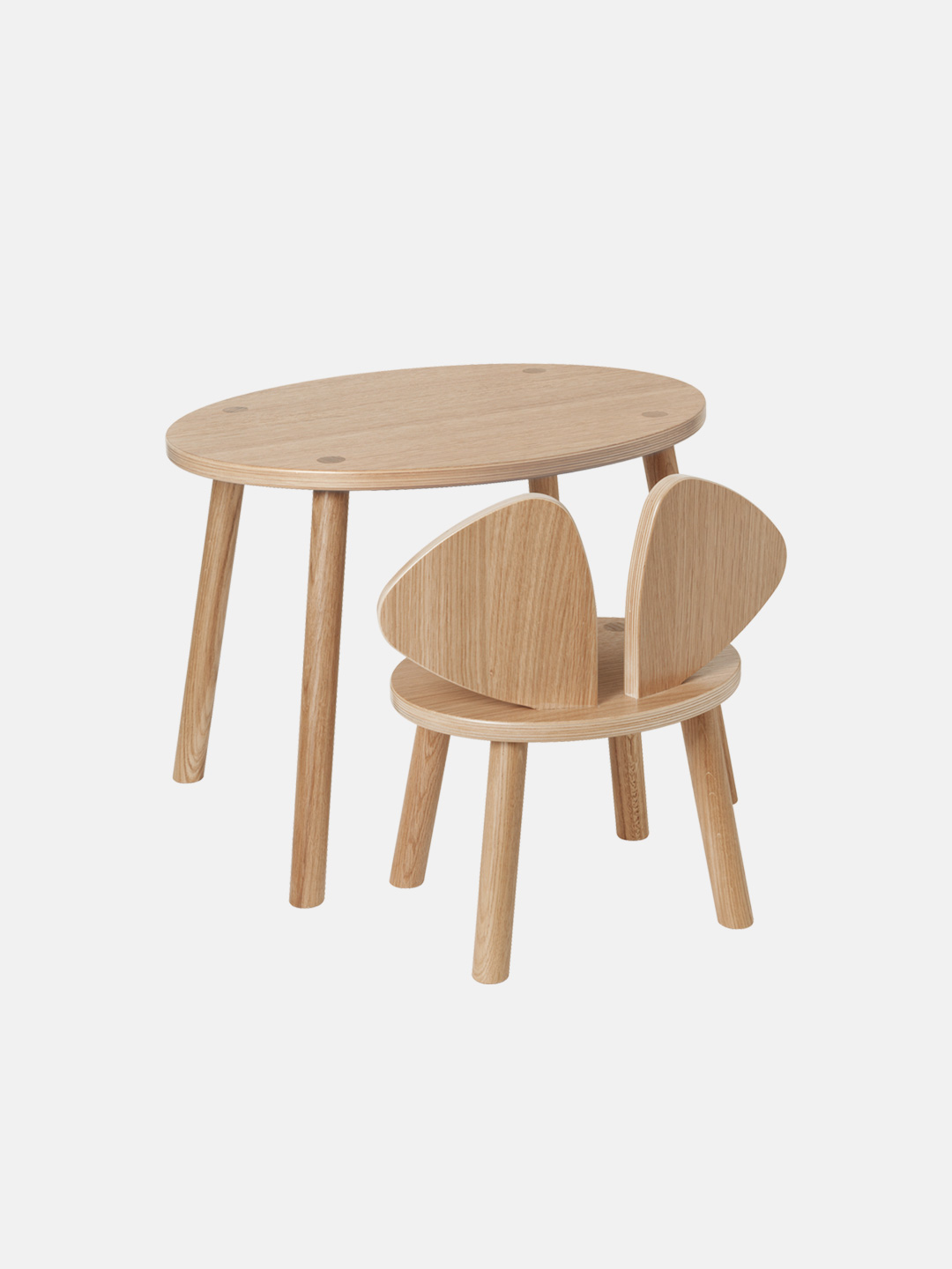 Mouse Table - Lacquered Oak