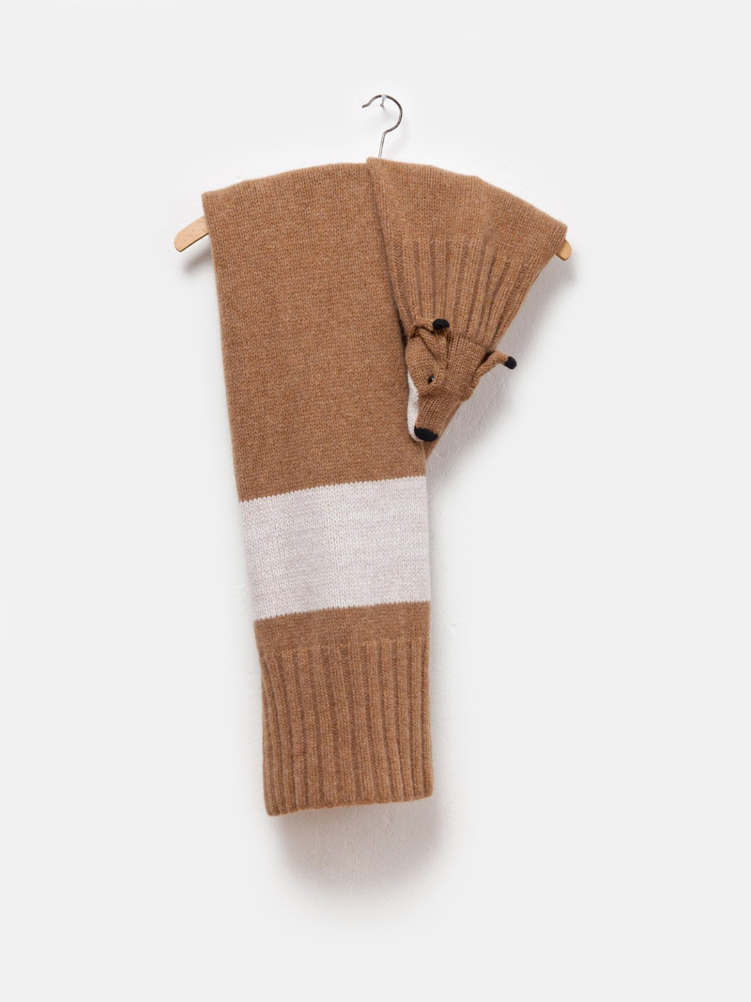 Brown Fox Lambswool Stole