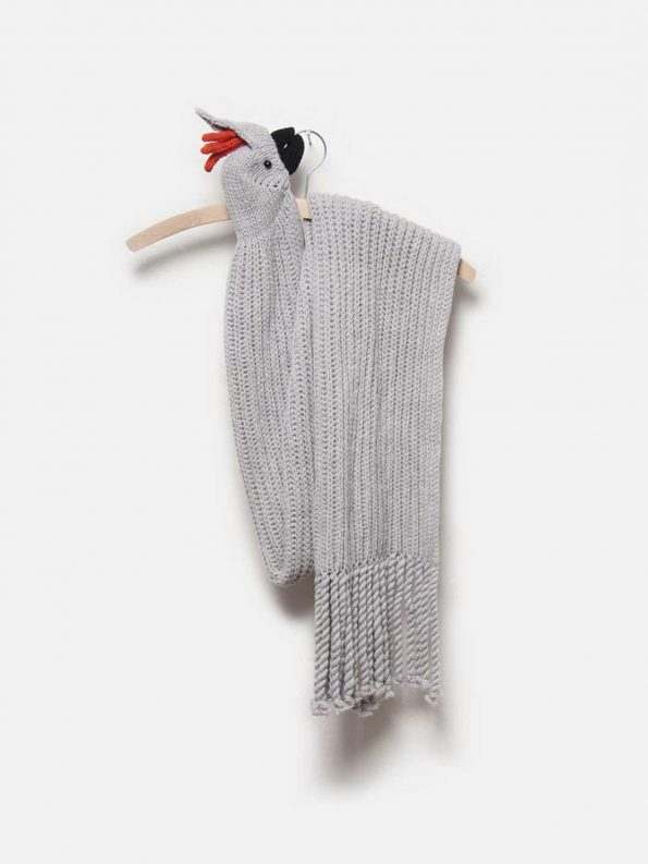 Grey Cockatoo Merino Scarf