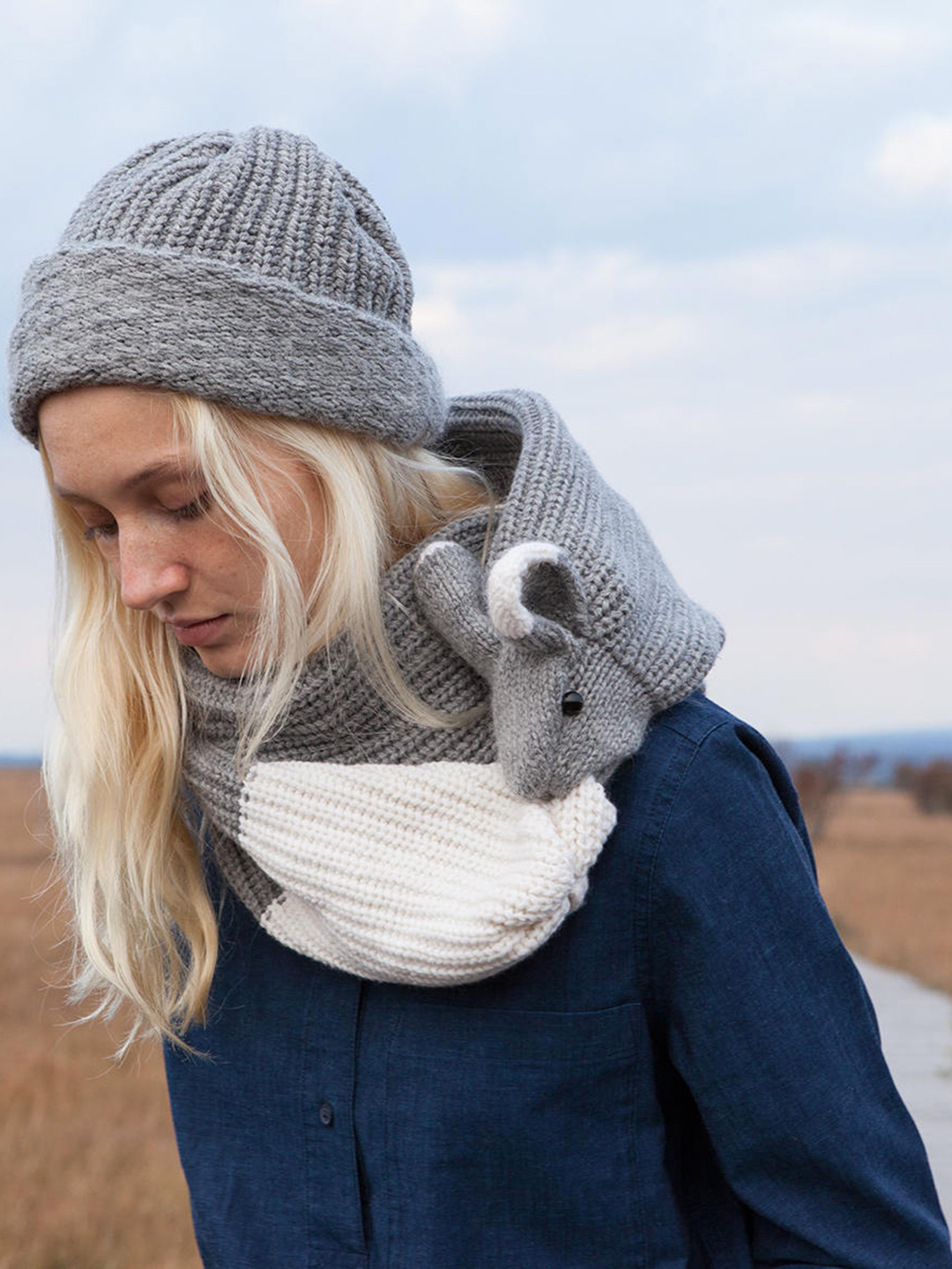 Rabbit Merino Scarf