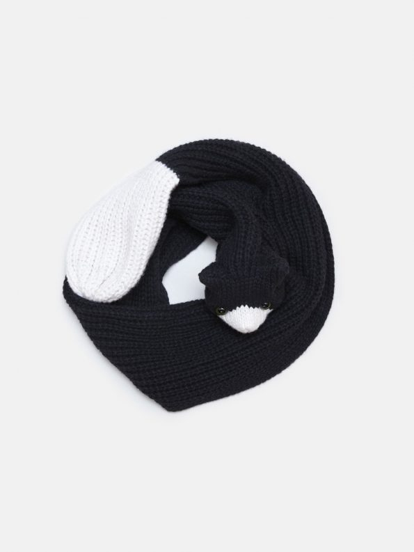 Black Cat Merino Scarf