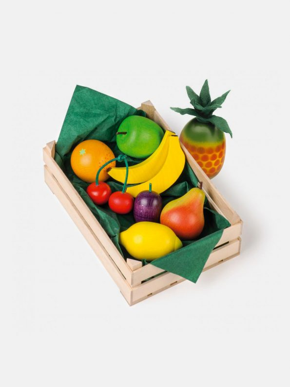 Wooden Tropical Fruit Play Food Set