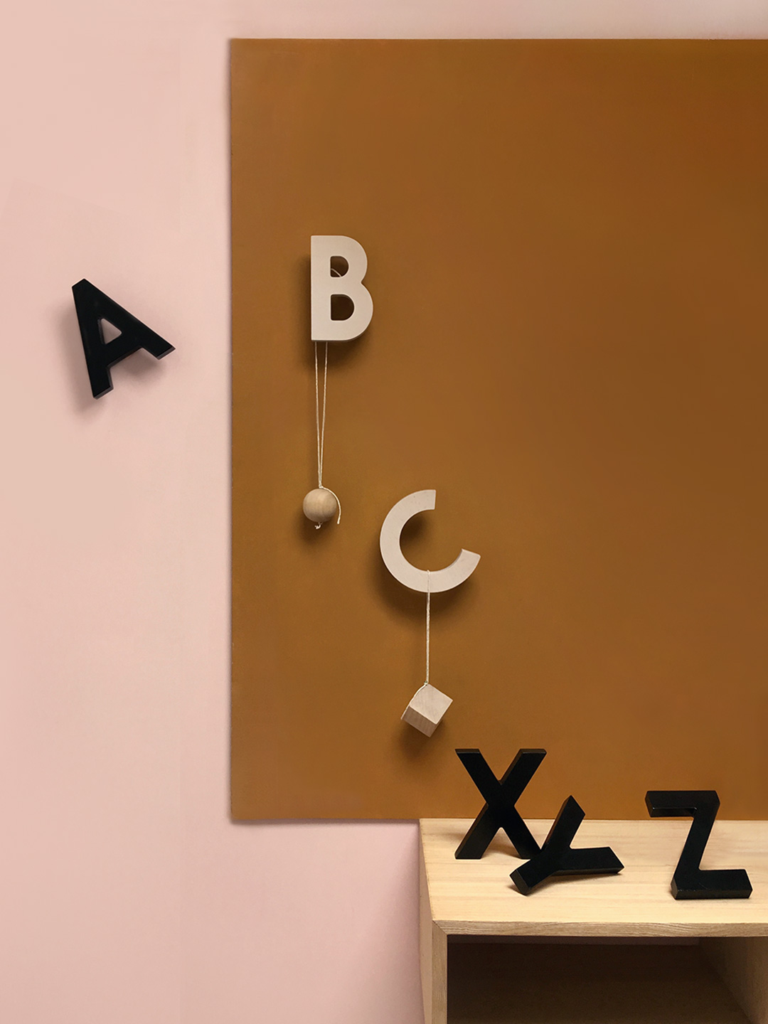 Alphabet Soup Wall hooks - ABC (Natural)