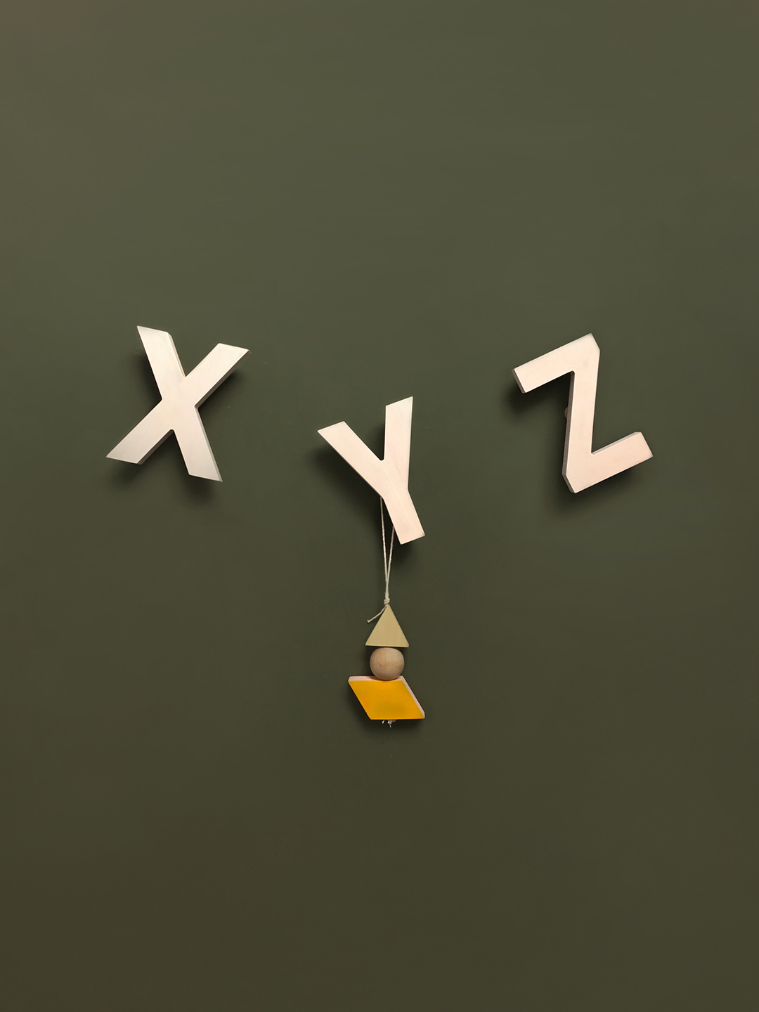 Alphabet Soup Wall hooks - XYZ (Natural)
