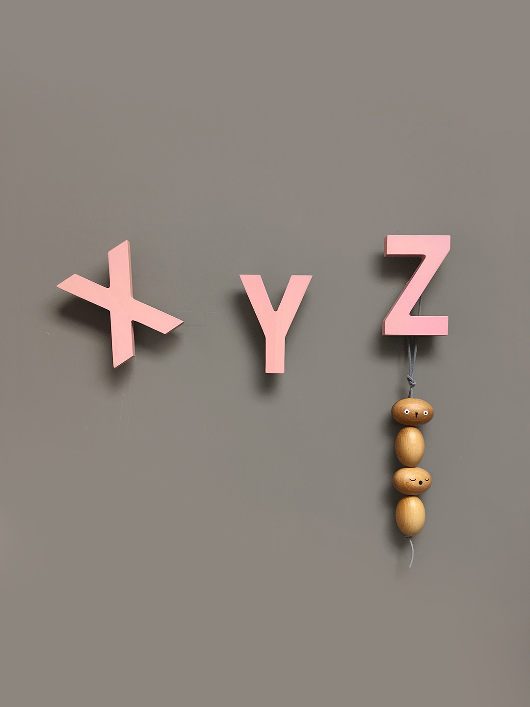 Alphabet Soup Wall hooks - XYZ (Rose)