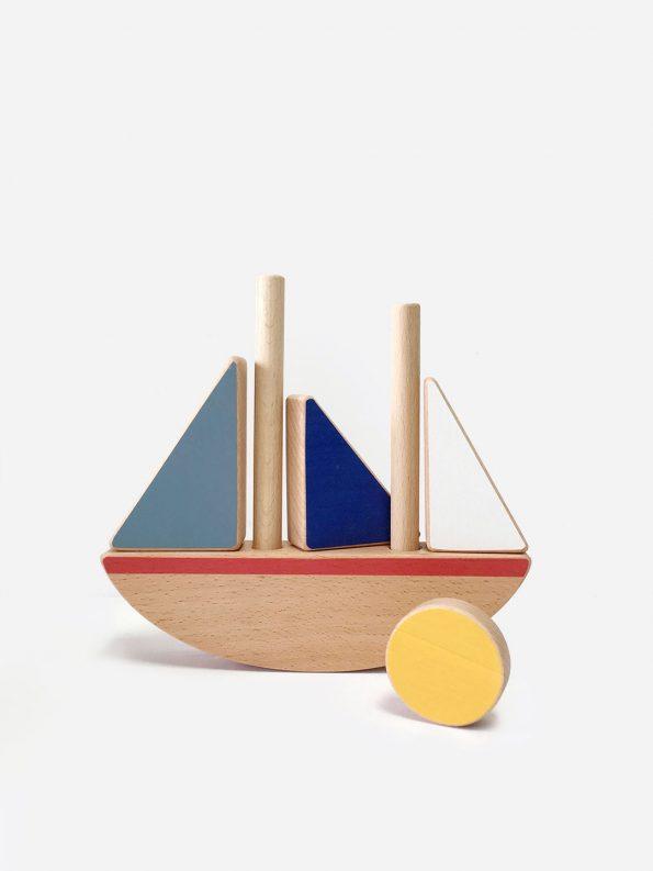 Sail Boat Stacking & Balancing Toy