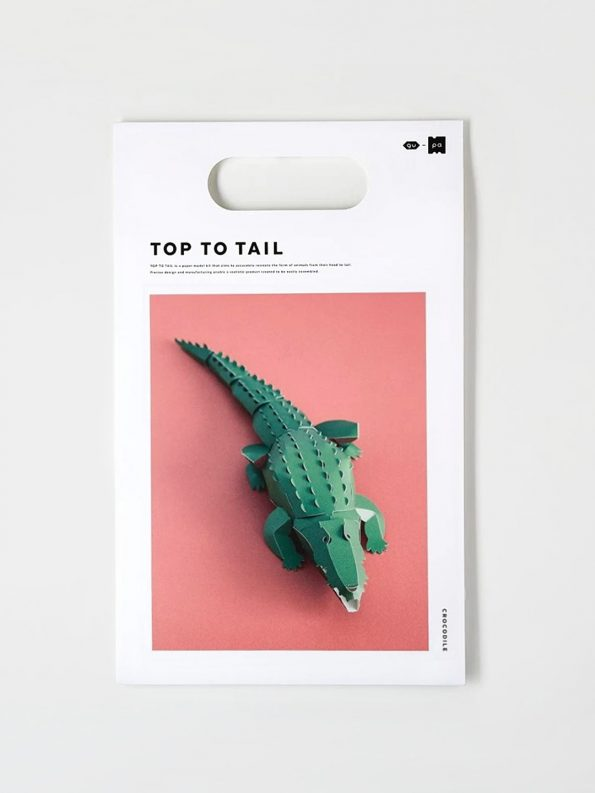 Top To Tail Paper Model Kit – Crocodile