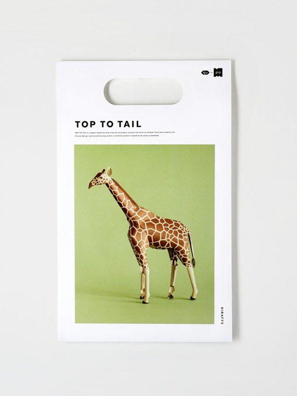 Top To Tail Paper Model Kit – Giraffe