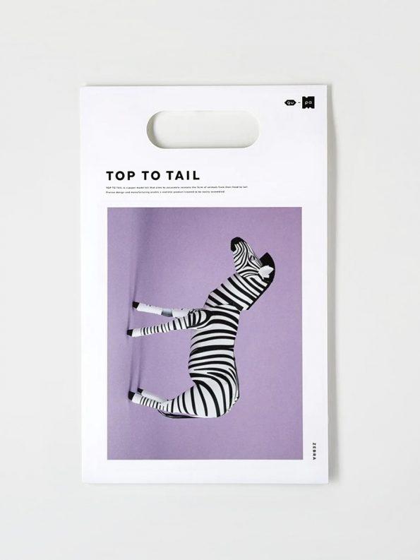 Top To Tail Paper Model Kit – Zebra