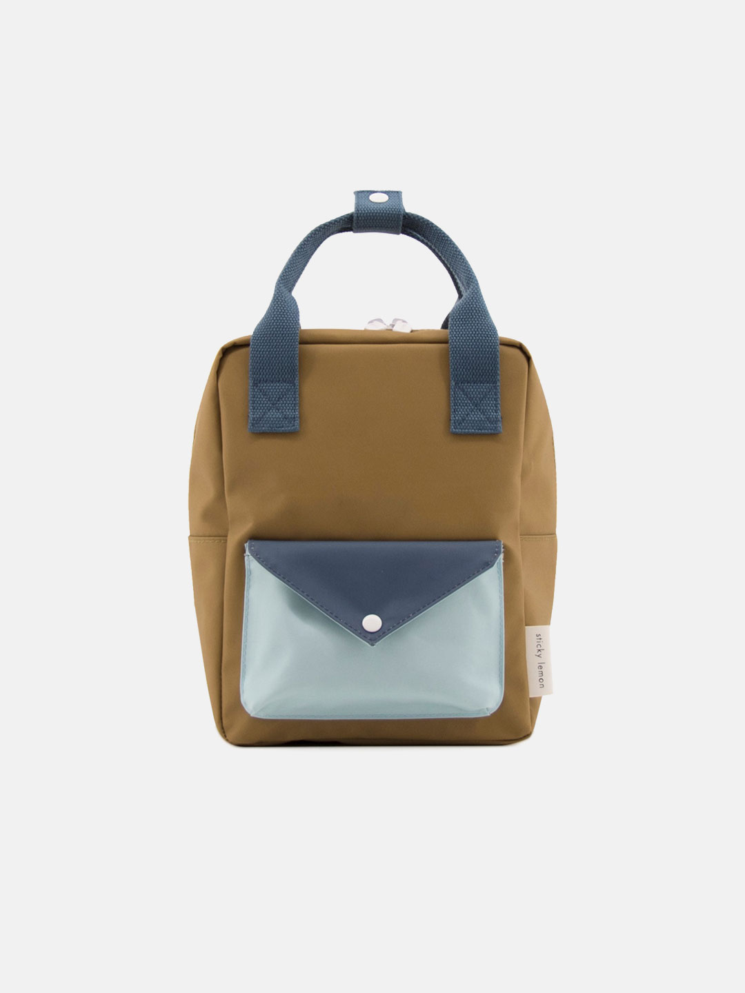 Small Backpack Envelope - Gold Green