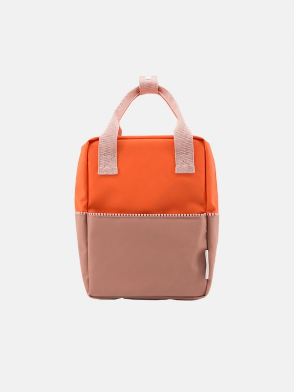 Small Backpack Color-block – Royal Orange