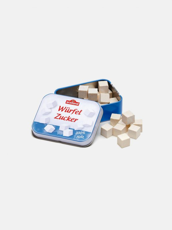 Wooden Food – Sugar Cubes in a Tin