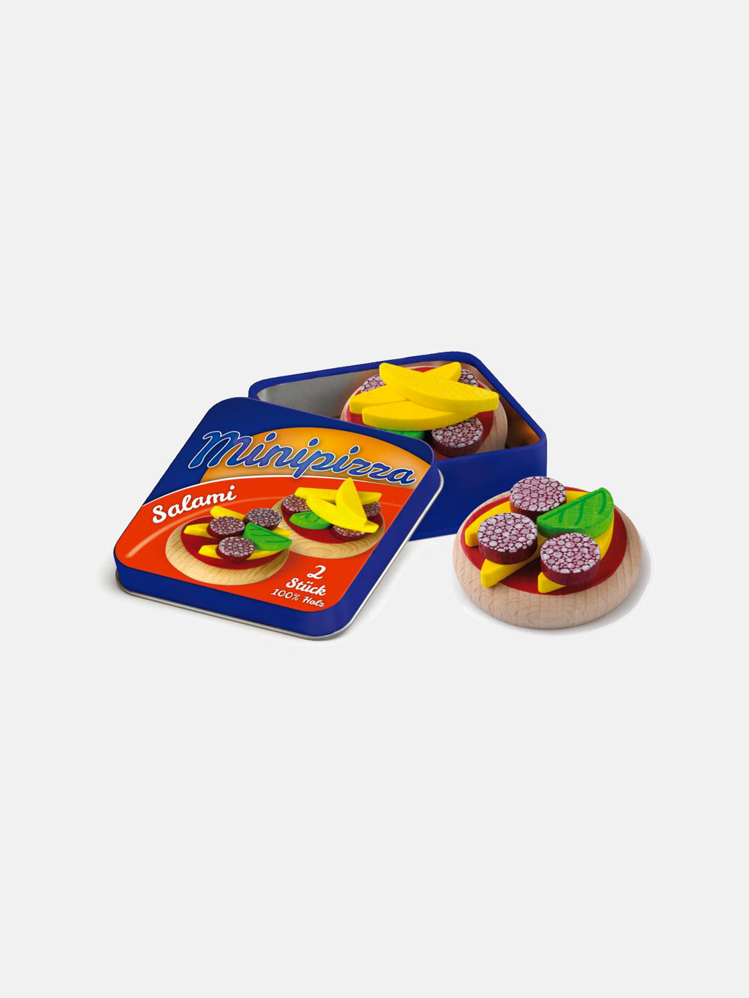 Wooden Food - Mini Pizzas in a Tin