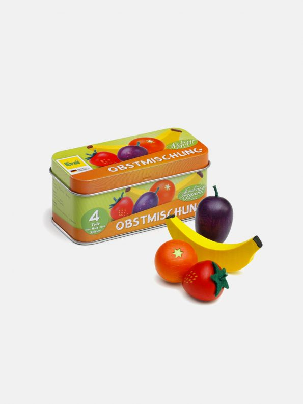 Wooden Fruit – Mixed Fruits in a Tin