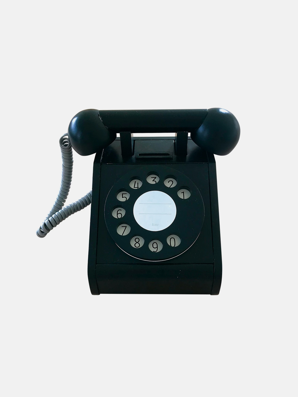Wooden Telephone - Black