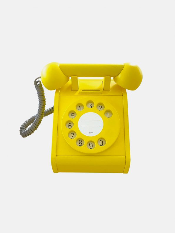 Wooden Telephone – Yellow
