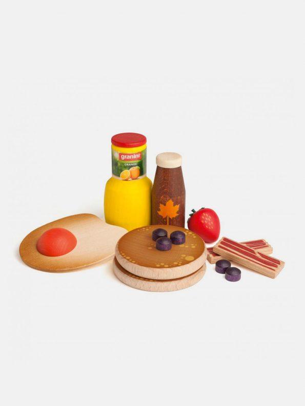 Wooden Food – American Breakfast
