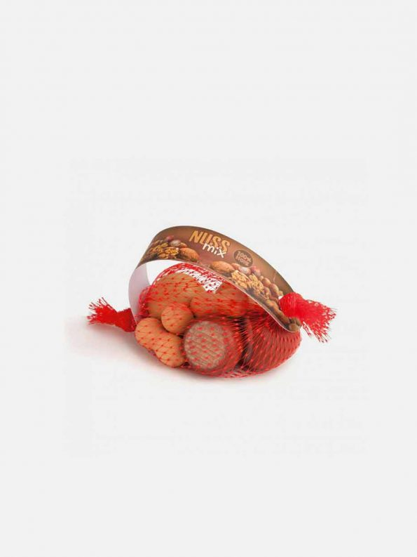 Wooden Food – Mixed Nuts in a Net