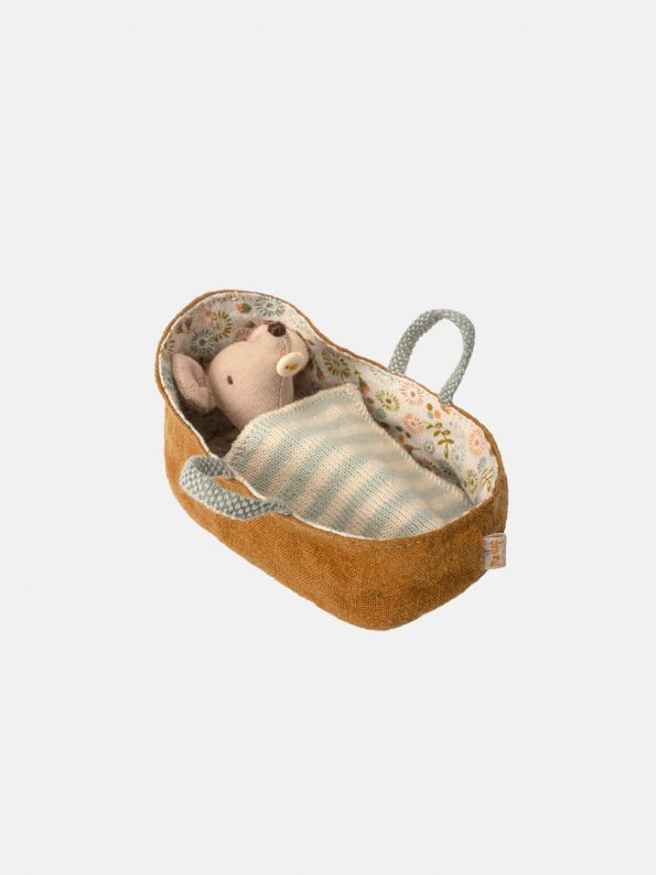 Baby Mouse in a Carrycot