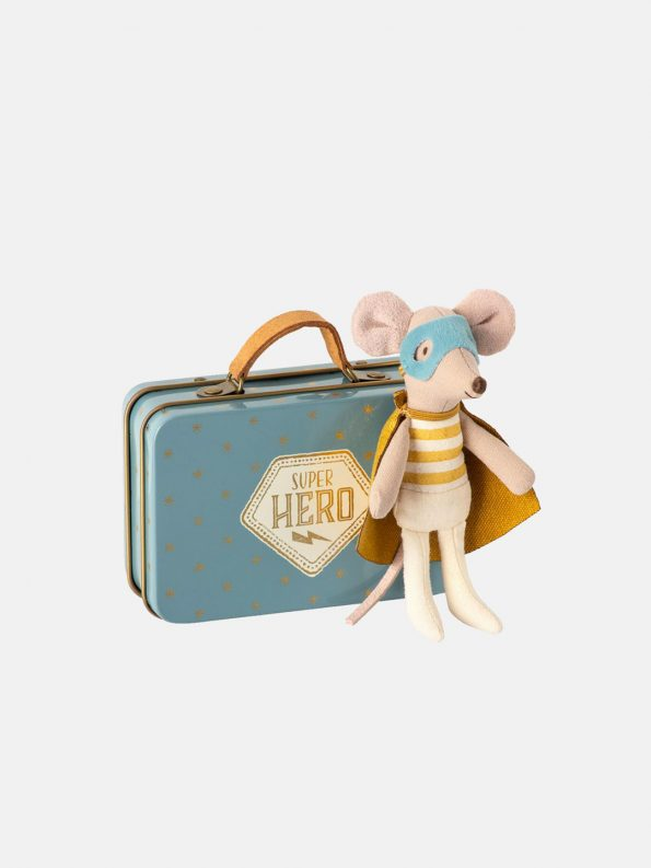 Little Brother Super Hero Mouse in a Suitcase